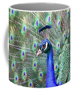 Peacock Bloom Coffee Mug by Steve McKinzie