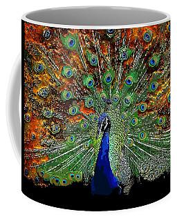 Peacock Exploding Coffee Mug