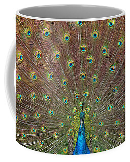 Peacock Fanfare Coffee Mug