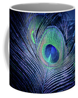 Coffee Mug featuring the photograph Peacock Feather Blush by Sharon Mau
