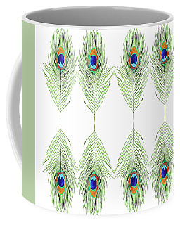 Peacock Feathers Coffee Mug by D Renee Wilson