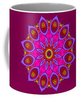 Peacock Fractal Flower II Coffee Mug