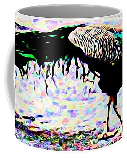 Peacock In Abstract Coffee Mug