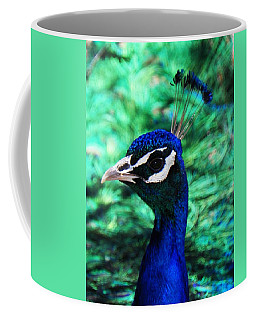 Coffee Mug featuring the photograph Peacock by Joseph Frank Baraba