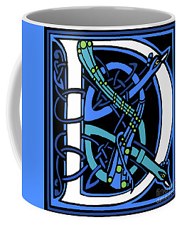 Peacock Letter D Coffee Mug