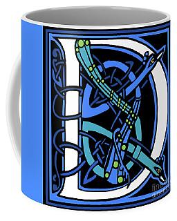 Peacock Letter D Coffee Mug