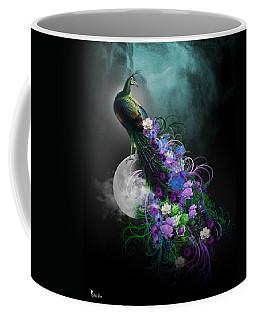 Peacock Of  Flowers Coffee Mug