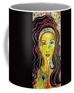 Peacock Princess Coffee Mug by Julie Hoyle