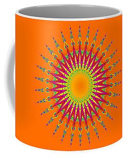 Peacock Sun Mandala Fractal Coffee Mug