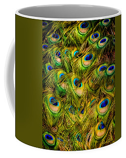 Peacock Tails Coffee Mug