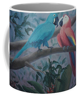 Peacocks In The Jungle Coffee Mug