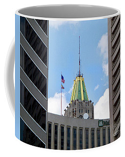 Peek Between Buildings Coffee Mug