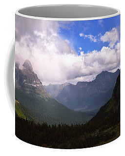 Peaks And Valleys Glacier National Park Coffee Mug
