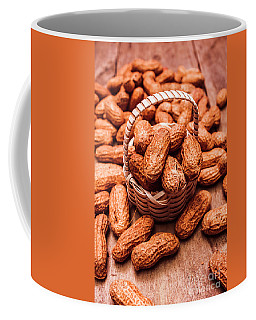 Peanuts In Tiny Basket In Close-up Coffee Mug