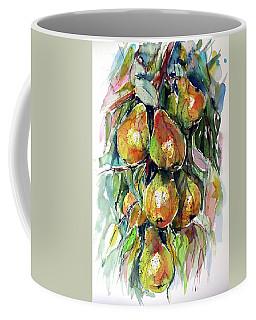 Coffee Mug featuring the painting Pear by Kovacs Anna Brigitta