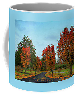 Coffee Mug featuring the photograph Pear Trees In Autumn by Ola Allen
