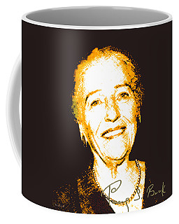 Coffee Mug featuring the digital art Pearl Buck by Asok Mukhopadhyay