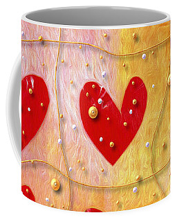 Coffee Mug featuring the photograph Pearly Hearts Valentine by Carol Leigh