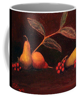 Pears And Grapes Coffee Mug