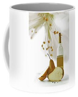 Coffee Mug featuring the photograph Pears Blossom by Ann Lauwers
