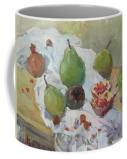 Pears Figs And Young Pomegranates Coffee Mug