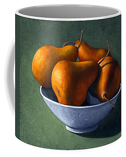 Pears In Blue Bowl Coffee Mug