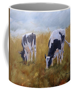 Coffee Mug featuring the painting Peace On Earth Five by Laura Lee Zanghetti