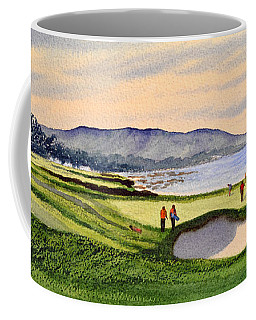 Pebble Beach Golf Course 9th Green Coffee Mug