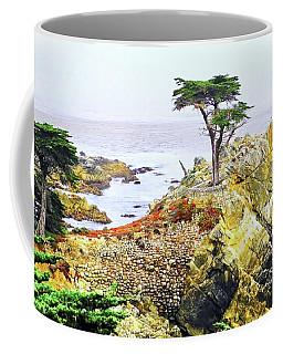 Pebble Beach Lone Cypress Tree Coffee Mug