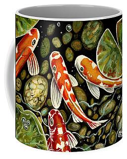 Pebbles And Koi Coffee Mug