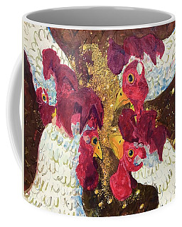 Pecking Order Coffee Mug by Jame Hayes