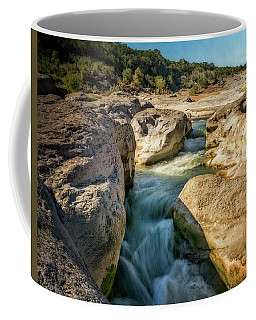 Coffee Mug featuring the photograph Pedernales Fall State Park Texas by Joan Carroll