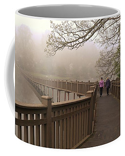 Pedestrian Bridge Early Morning Coffee Mug
