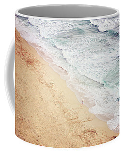 Coffee Mug featuring the photograph Pedn Vounder by Lyn Randle
