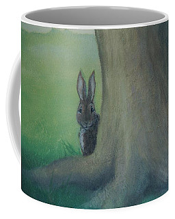 Peek A Boo Behind The Tree Coffee Mug