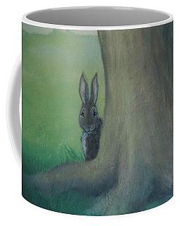 Peek A Boo Behind The Tree Coffee Mug