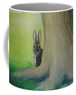 Peek-a-boo Bunny Coffee Mug