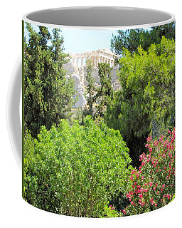 Peek Of The Parthenon Coffee Mug