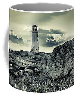 Peggys Cove Lighthouse Coffee Mug by Ken Morris