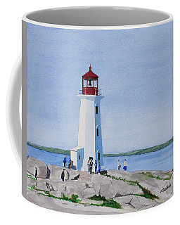 Peggy's Point Lighthouse Coffee Mug by Mike Robles