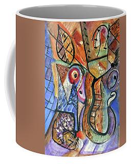 Coffee Mug featuring the painting Pele And Hiiaka by Stephen Lucas