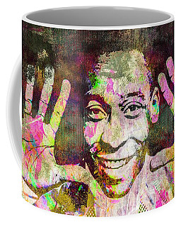 Coffee Mug featuring the mixed media Pele by Svelby Art