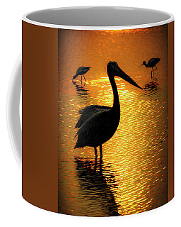 Pelican And Avocets Coffee Mug