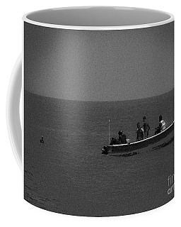 Pelican And The Fishing Boat Coffee Mug