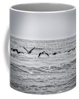 Pelican Black And White Coffee Mug