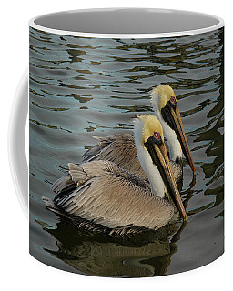 Coffee Mug featuring the photograph Pelican Duo by Jean Noren