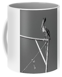 Pelican In Black And White Coffee Mug
