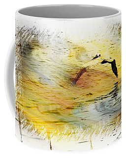 Pelican In Flight Coffee Mug