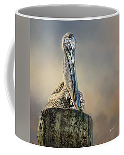 Pelican In Paradise Squared Coffee Mug
