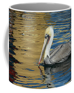 Pelican In Watercolors Coffee Mug by Fraida Gutovich